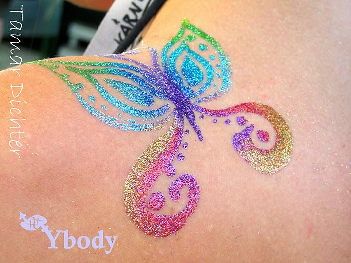 Glitter tattoo art welcome to ybody glitter tattoos for Glitter tattoo glue
